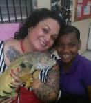 with Jewel & Don, the Iguana, Bahamas, 2014